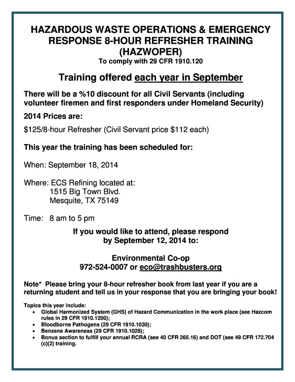Hazwoper Training flyer 2014-page-0