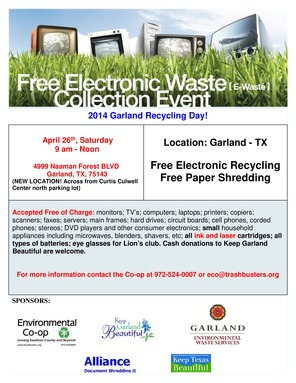 Garland Electronic Recycling Event April 26 2014-page-0