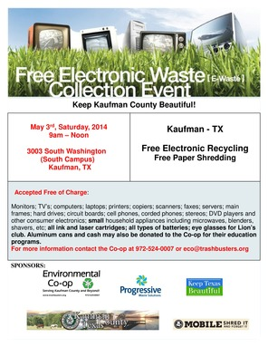 Kaufman Electronic Recycling Event 2014-page-0