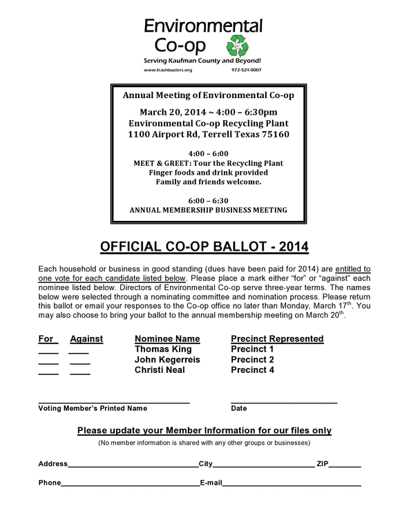 2014 Proxy Ballot (Annual Meeting)-page0001 2
