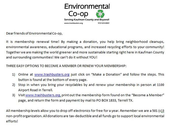 Membership Renewal Blurb